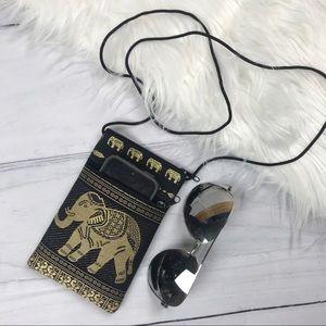 Handbags - Passport Small Shoulder Pouch Bag. Elephant Boho